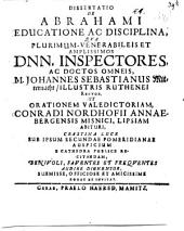 Diss. de Abrahami educatione ac disciplina