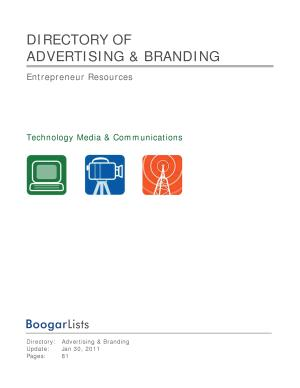 BoogarLists   Directory of Advertising   Branding PDF