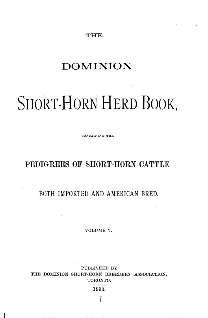 Canadian Shorthorn Herd Book