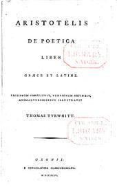 Aristotelis De poetica liber: Græce et Latine