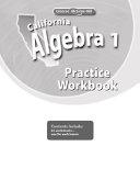 California Algebra 1  Practice Workbook PDF