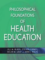 Philosophical Foundations of Health Education PDF
