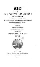 Actes - Société linnéenne de Bordeaux: Volumes 49-50