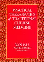 Practical Therapeutics of Traditional Chinese Medicine PDF