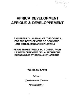 Africa Development PDF