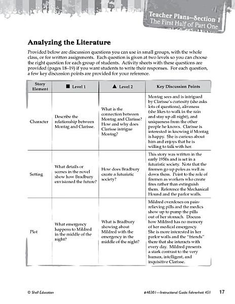 Download Fahrenheit 451 Leveled Comprehension Questions Book