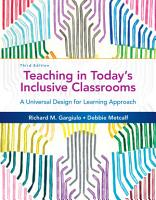 Teaching in Today s Inclusive Classrooms  A Universal Design for Learning Approach PDF