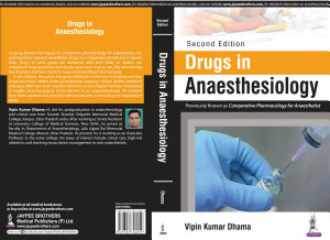 Drugs in Anaesthesiology PDF