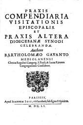 Praxis compendiaria visitationis episcopalis et Praxis altera dioecesanae synodi