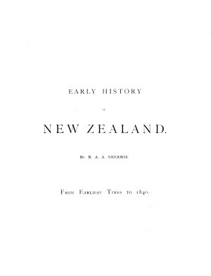 Early History of New Zealand PDF