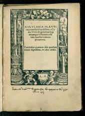 Aulularia Plautina: cum familiari explanatione