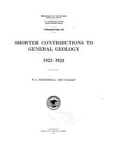 Shorter contributions to general geology, 1923-1924