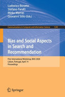 Bias and Social Aspects in Search and Recommendation