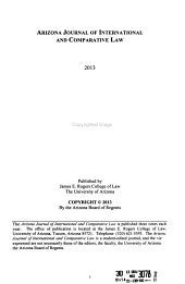 Arizona Journal of International and Comparative Law PDF
