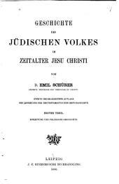 Geschichte des jüdischen Volkes im Zeitalter Jesu Christi: Einleitung und politische Geschichte