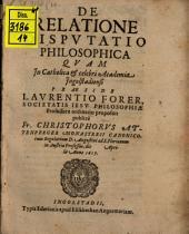 De Relatione Dispvtatio Philosophica