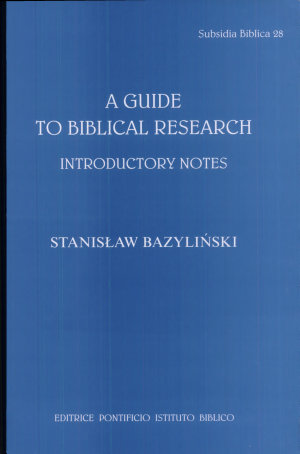 A Guide to Biblical Research