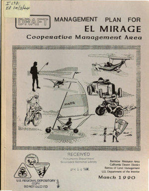 Management Plan for El Mirage Cooperative Management Area PDF