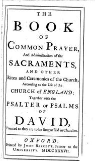 The Book of Common Prayer  and Administration of the Sacraments      Together with the Psalter     Book