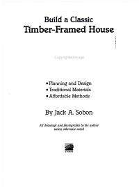 Build a Classic Timber Framed House PDF