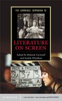 The Cambridge Companion to Literature on Screen PDF