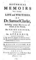 Historical Memoirs of the Life and Writings of Dr  Samuel Clarke PDF