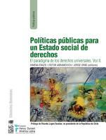 Pol  ticas p  blicas para un estado social de derechos PDF