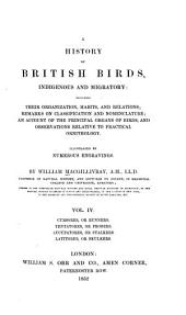 A History of British Birds, Indigenous and Migratory: Cursores, or runners; Tentatores, or probers; Aucupatores, or stalkers; Latitores, or skulkers