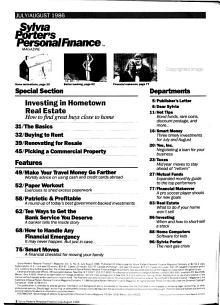 Sylvia Porter s Personal Finance Magazine PDF