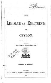 The Ordinances of Ceylon: Volume 5