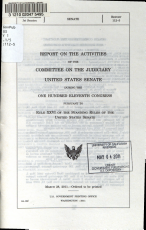 Report on the Activities of the Committee on the Judiciary of the United States Senate During the     Congress PDF
