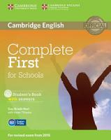 Complete First for Schools Student s Book with Answers with CD ROM PDF