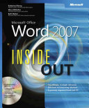 Microsoft Office Word 2007 Inside Out Book PDF