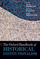 The Oxford Handbook of Historical Institutionalism PDF