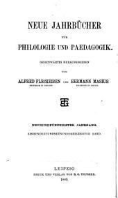 Jahrbücher für classische Philologie: Band 139