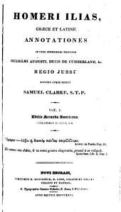 Homeri Ilias, græce et latine: Volume 1
