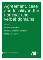 Agreement  case and locality in the nominal and verbal domains PDF