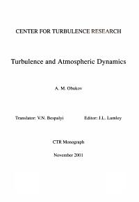 Turbulence and Atmospheric Dynamics PDF