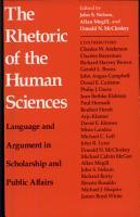 The Rhetoric of the Human Sciences PDF