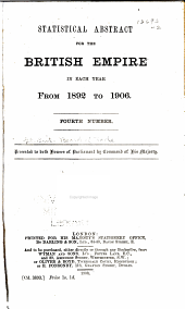 Statistical Abstract for the British Empire ...: Issues 4-5