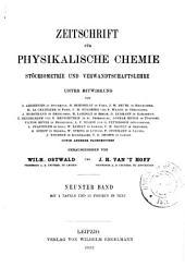 Zeitschrift für physikalische Chemie: Band 9