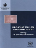 Rule of law Tools for Post conflict States PDF