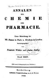 Justus Liebig's Annalen der Chemie: Bände 35-36