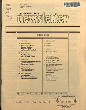 Women s Studies Newsletter PDF