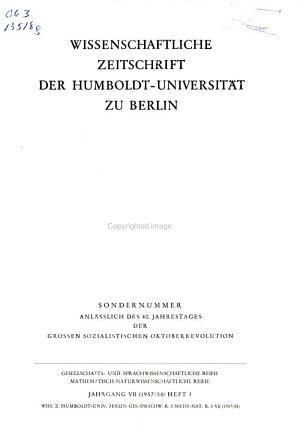 Wissenschaftliche Zeitschrift der Humboldt Universit  t Berlin PDF