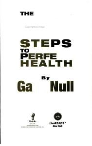 7 Steps to Perfect Health Book