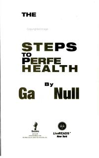 7 Steps to Perfect Health