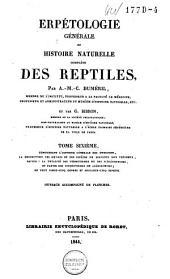 Erpétologie générale: ou, Histoire naturelle complète des reptiles, Volume6