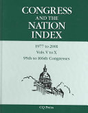 Congress & the Nation Index 1977-01