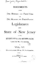 Documents of the Legislature of the State of New Jersey: Volume 143, Part 6 - Volume 144, Part 6